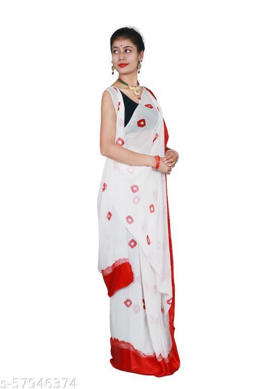 Bhandhej Georgette Saree