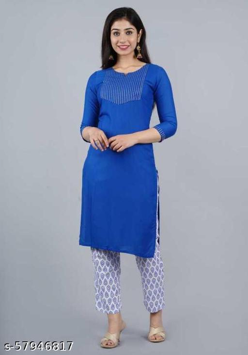BLUE KURTA WITH PANT