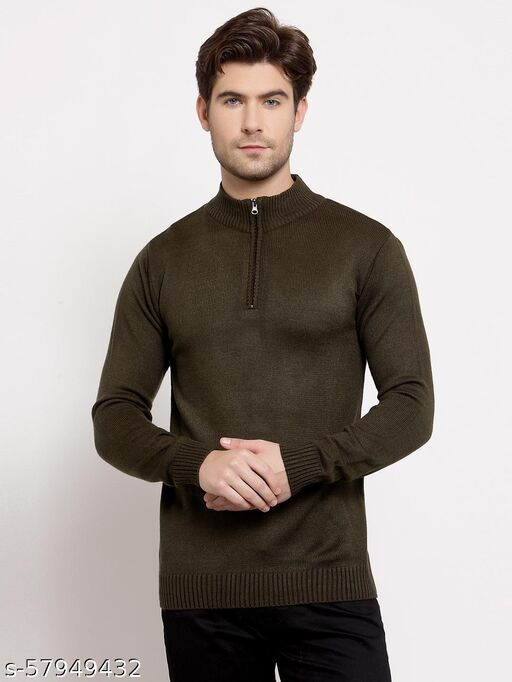 Style Quotient Mens Solid Pullover Sweaters
