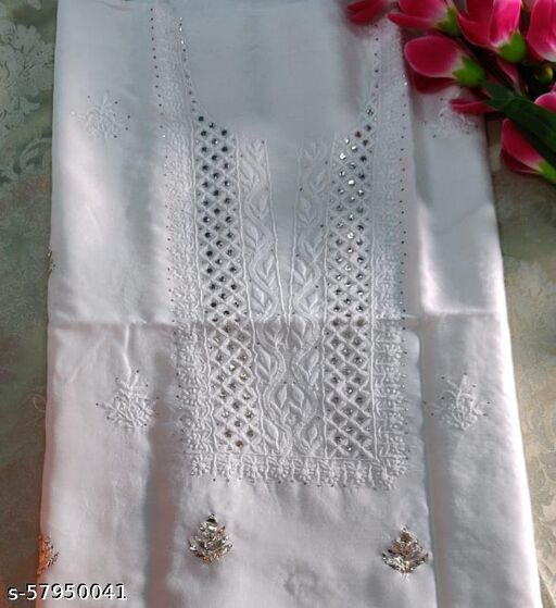 Chikan Embroidery Cotton Party wear kurta