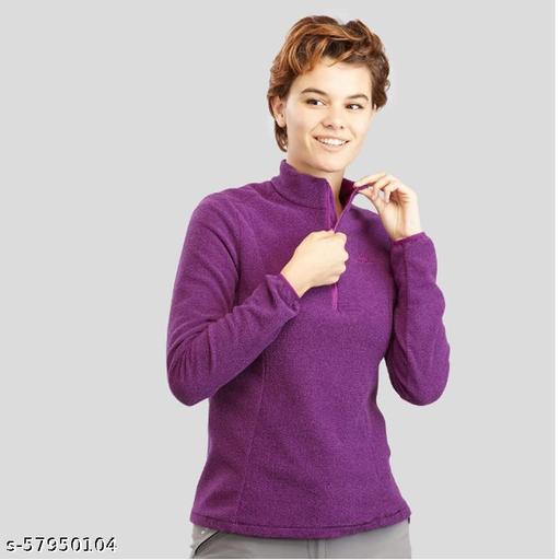 Women's Mountain Hiking - Purple Sweatshirts