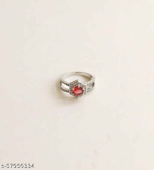Scarlet Red Diamond Ring