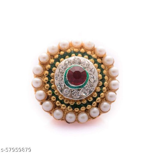 Green & Red Pearl Stone Borla For Women
