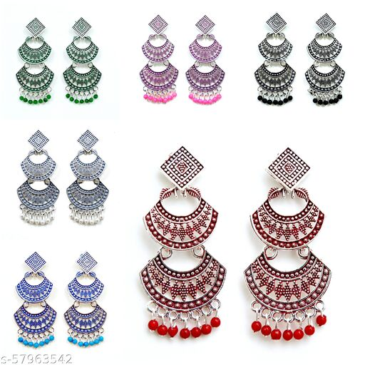 VAANI Combo Of Earring For Girls and Women Set of - 6 Pairs