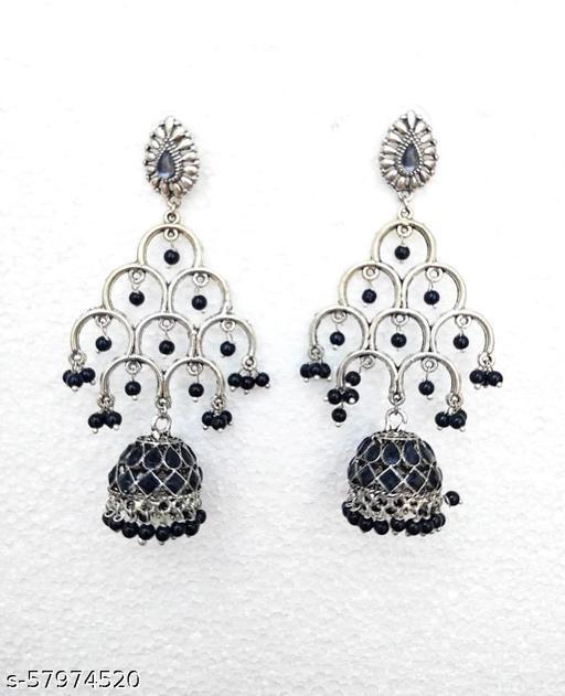 Black fancy trending Earrings for Girls & Women's