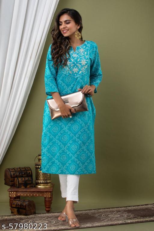 womens Rayon Embroidery long partywear kurta