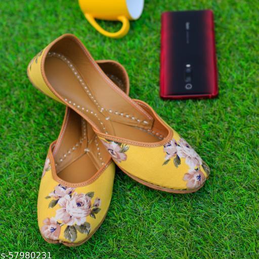 Yellow Mellow Floral Juttis & Mojaris