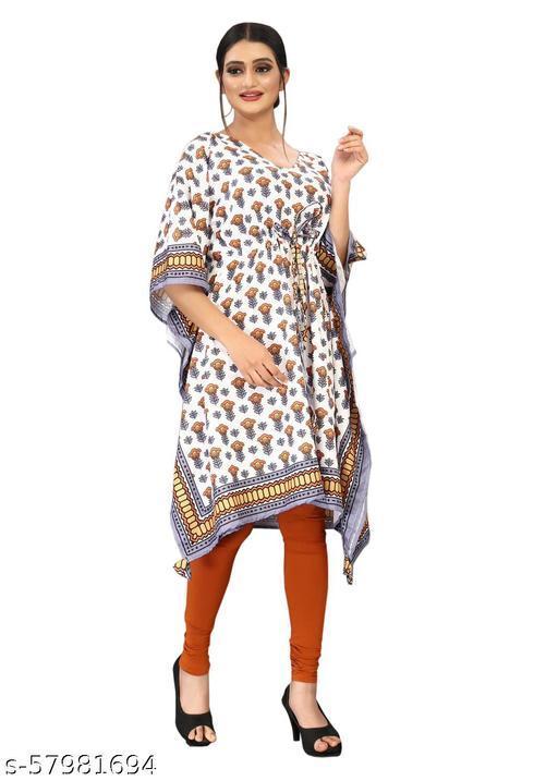 Designer Shama western digital printed poncho kaftan