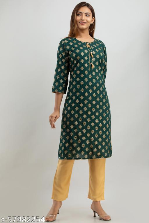 Refresh your wardrobe with Designer Lonix printed rayon Kurta set