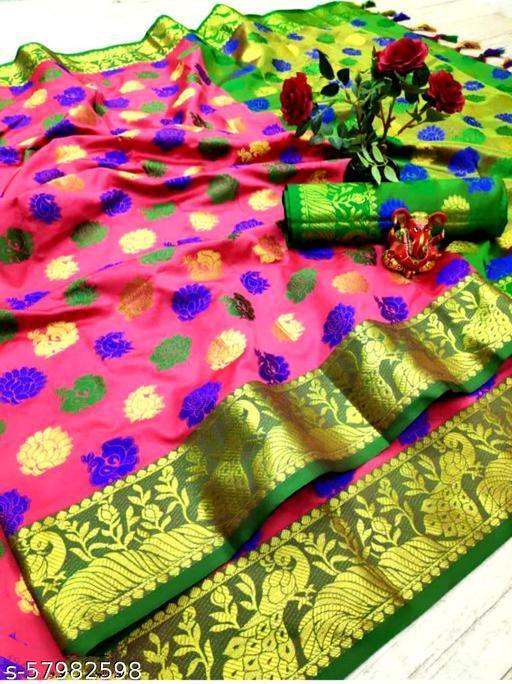 K_Creation New Attractive Women's cotton Silk Patola Saree