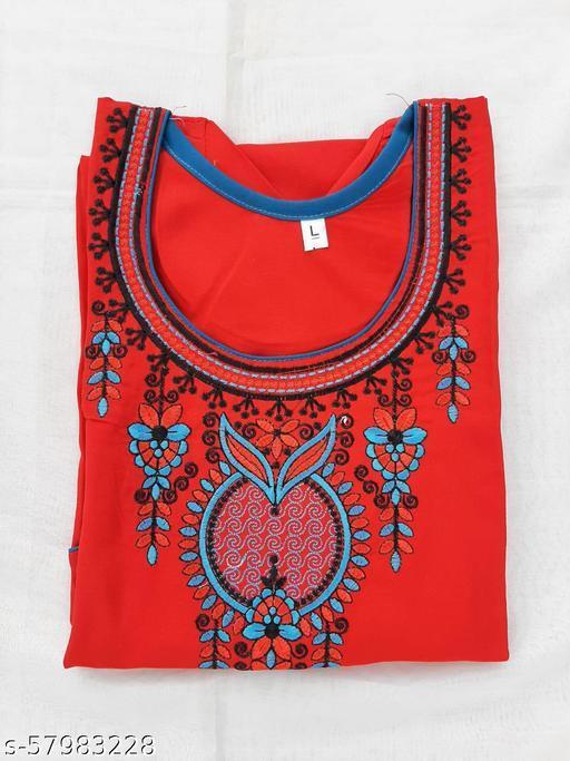 Rayhon kurti with embroidery