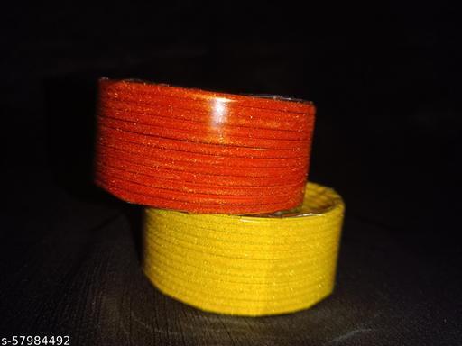 Bangles for Women & Girls (Orange & Yellow)