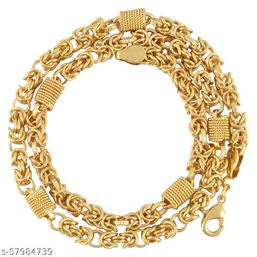 Maalgodam Hand Made Gold Plated Chain for Men's(Chain-23)