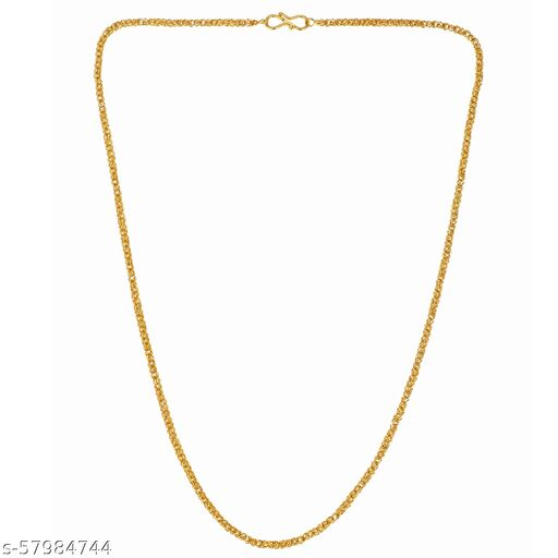 Maalgodam Designer Wedding Collection Gold Plated Meena Chain for Men