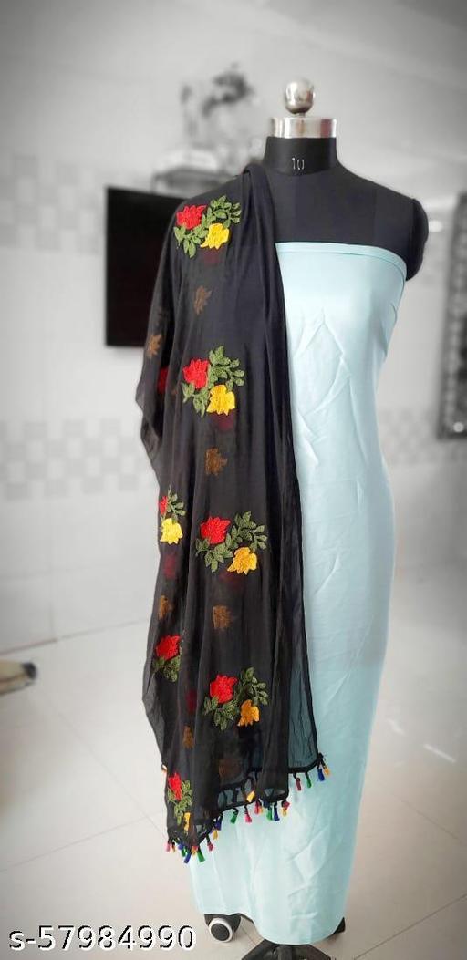 Embroidery Flower Dupatta