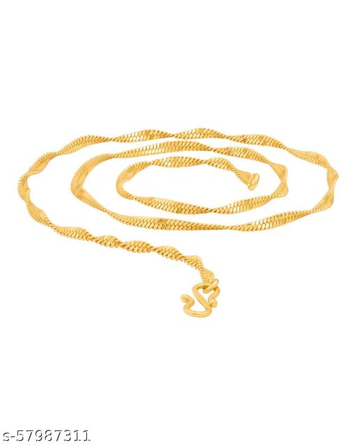 Maalgodam Gold Plated Twister Chain for Men & Women