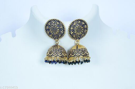 Chanchal Jewelers Presents Gold Plated Ethnic Women Earrings.