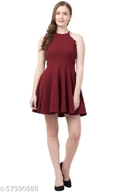 Women A-line Dress sleevless