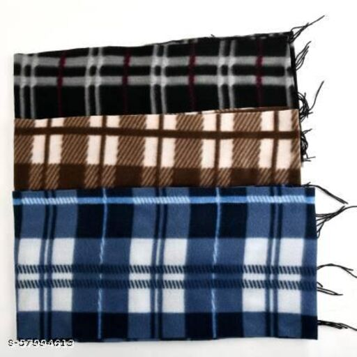 Drocca Checkered Men Muffler  (Pack of 3)