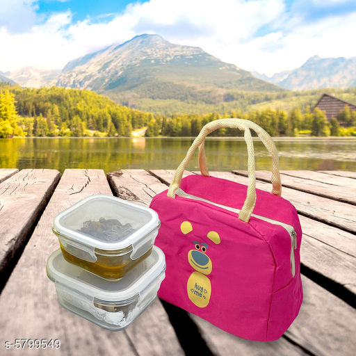 Lunch Boxes Elite Useful Lunch Boxes Combo (Pack Of 2)  *Material* Lunch Box - Glass, Bag - Jute  *Multipack * Pack of 2  *Lunch Box* 320 ml - (L X W X H) - 12 cm X 9 cm X 6 cm, Lunch Box  *Work* Lunch Box - Glass, Bag - Printed  *Sizes Available* Free Size *   Catalog Rating: ★4.4 (22)  Catalog Name: Elite Useful Lunch Boxes Combo CatalogID_873551 C130-SC1260 Code: 997-5799549-