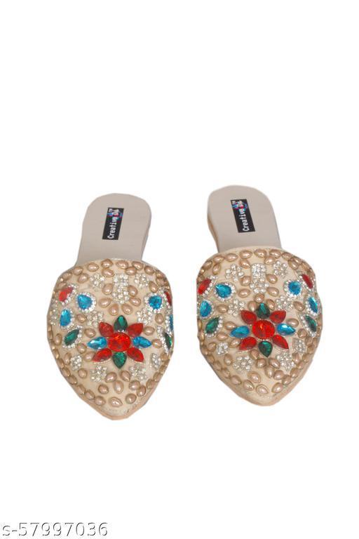 Handwork Partywear Punjabi Jutti Mulle