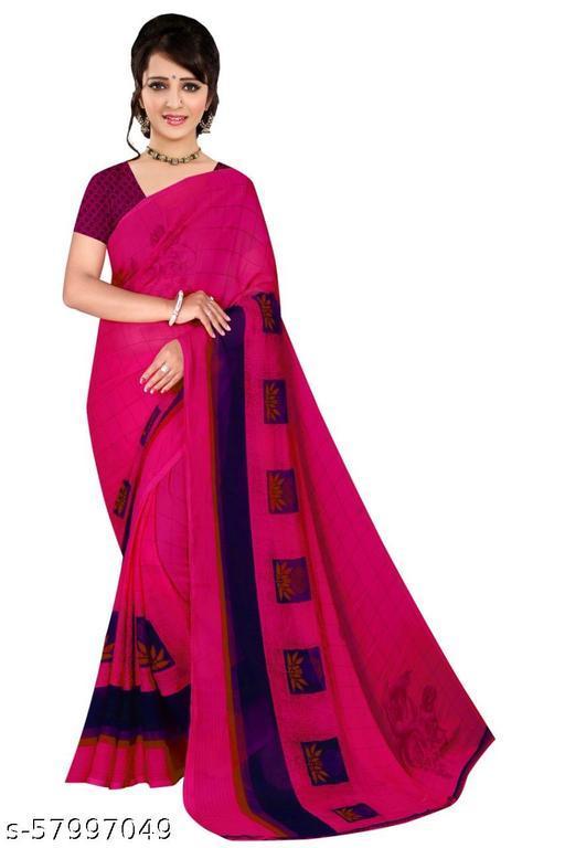 Kabir's designer chiffon saree