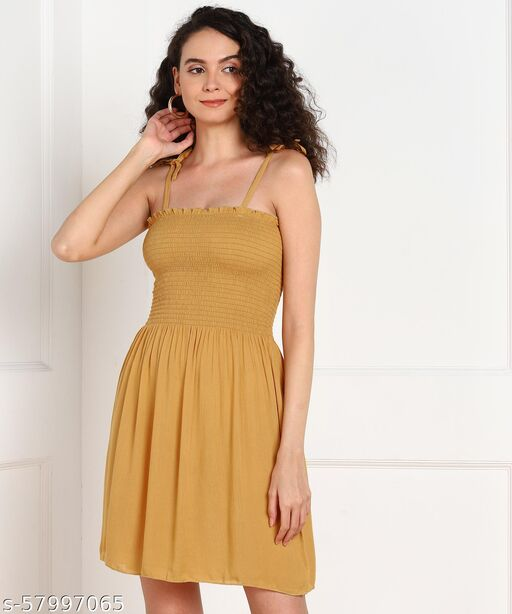 A line dress stylish sleevesless for women