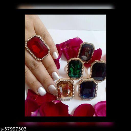 Twinkling Graceful Ring - Red Colour