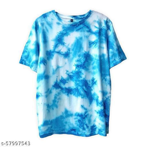 SKREAM TIE AND DYE SKY BLUE UNISEX T-SHIRT, 100% COTTON, HANDMADE, NO COLOUR BLEEDING, SUPER SOFT AND COMFY