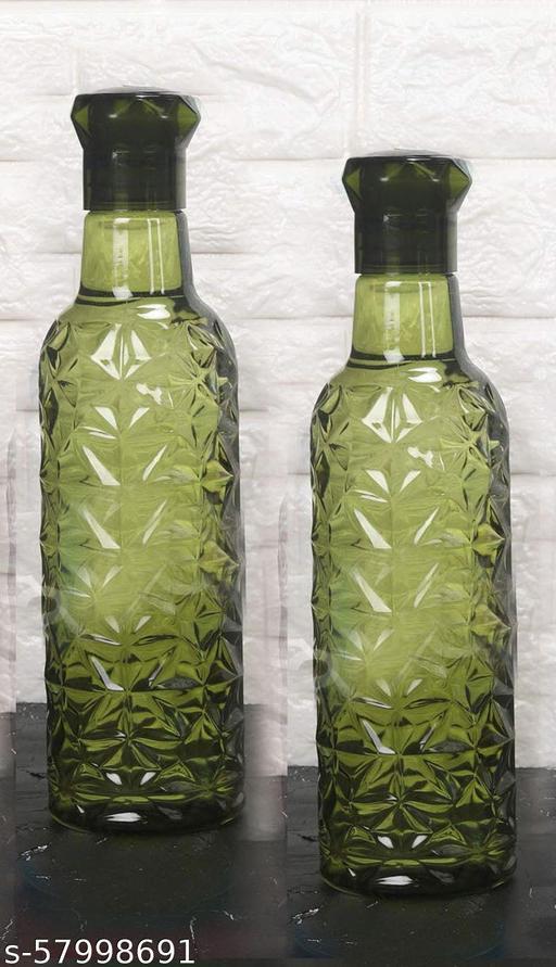 green crystal look unbreakable bottle