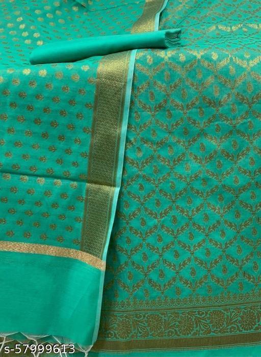 Banarsi TrenDy Jaquard Cotton Suit And Dress Maerial