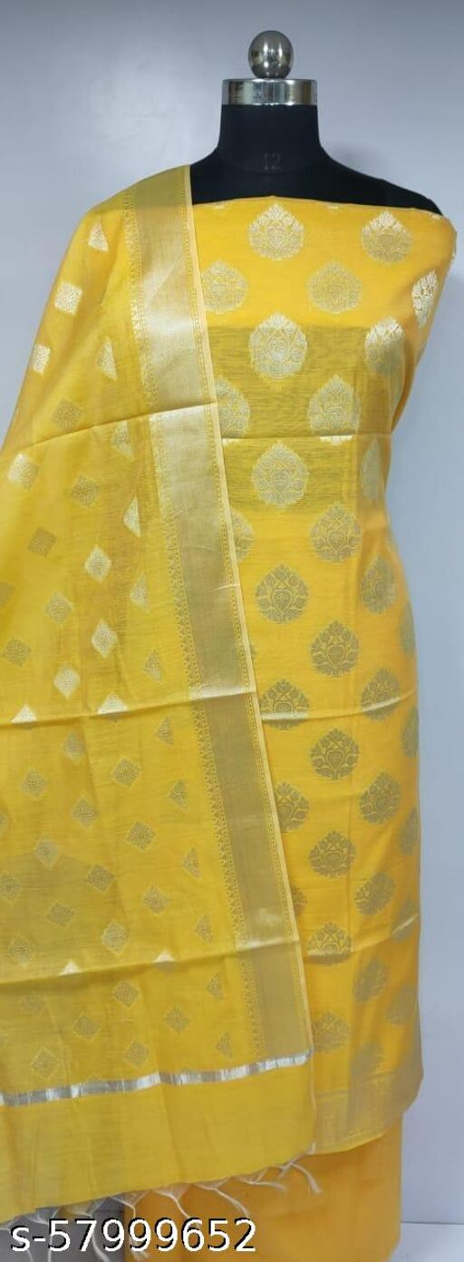 Exclusive Banarsi Jaquard Chanderi Cotton Suit And Dress Maerial For Weddings