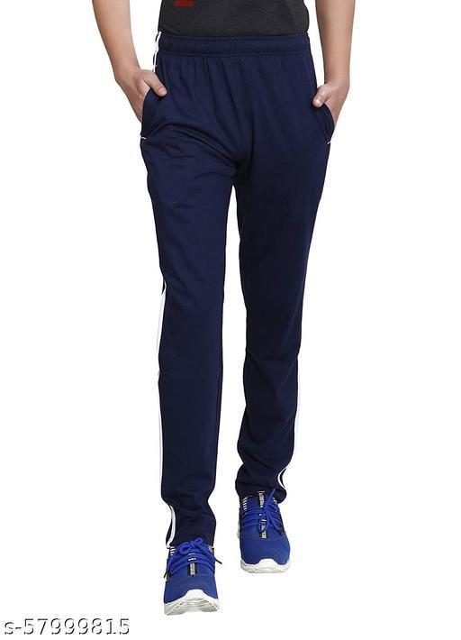 Avika Garments Men Comfort Fit Trackpant Navy Blue