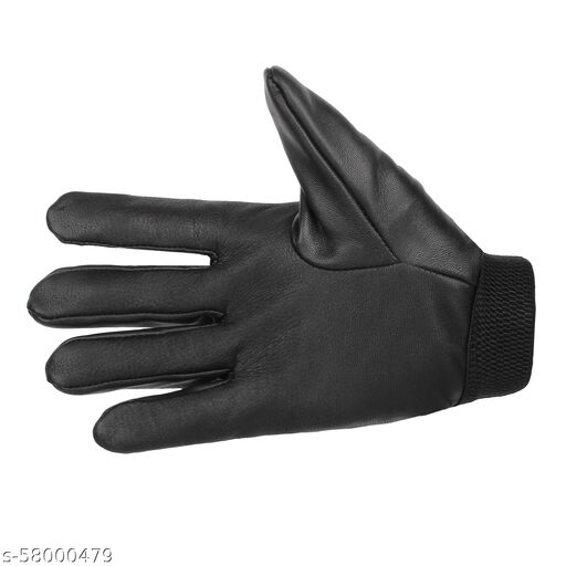 LEATHER BIKER GLOVES WITH KNUCKLE