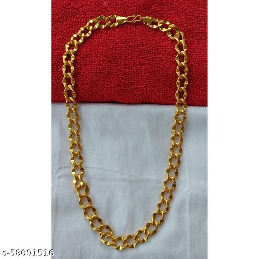 Heavy Gold Plated Chain - 1 Gram Gold Plating & Polishing - 20inches & 61gram