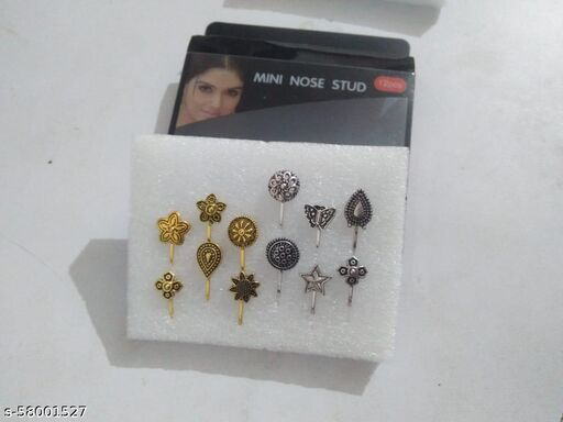 FANCY NOSEPIN pack of 12pis