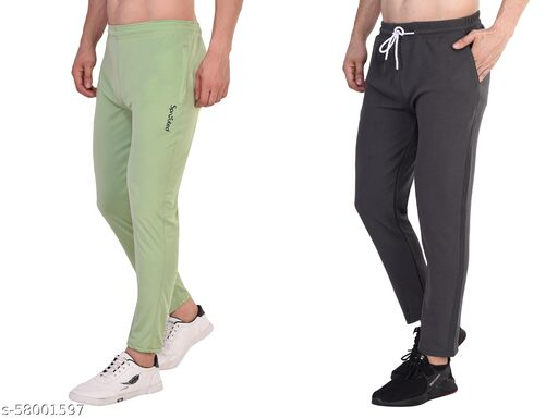 Sprouted Solid Men Combo Track Pants
