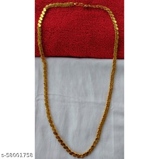 Bold Look Gold Plated Chain - 1 Gram Gold Plating & Polishing - 24inches & 32gram