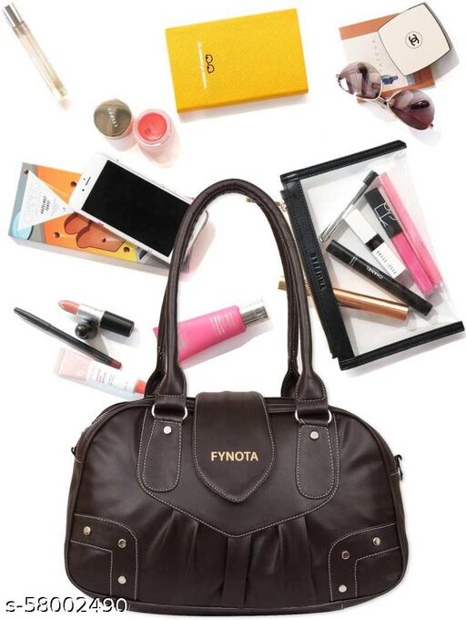 New stylish black leather formal/college bag