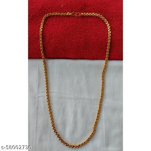 Heavy Interlock Gold Plated Chain - 1 Gram Gold Plating & Polishing - 24inches & 44 Gram