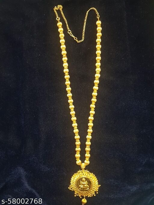 Long chain with laxmi godess pendent