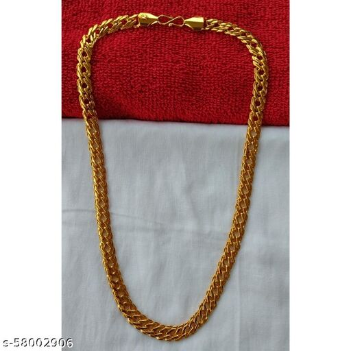 Classic Gold Plated Chain - 1 Gram Gold Plated & Polishing - 20inches & 45 Gram