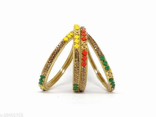 multi color glass bangles