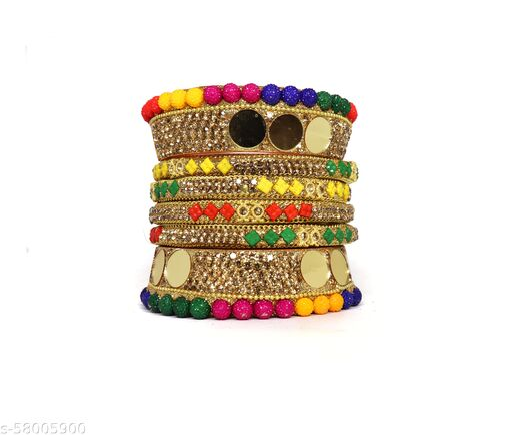 brand new multi color rajasthani bangle set