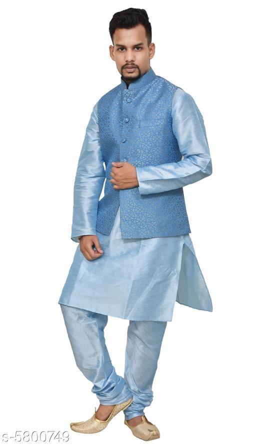 Ethnic Banarasi Dupion Men's Kurta Sets