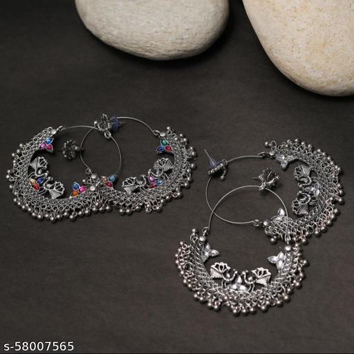 Anushka Sharma White Stone Earrings