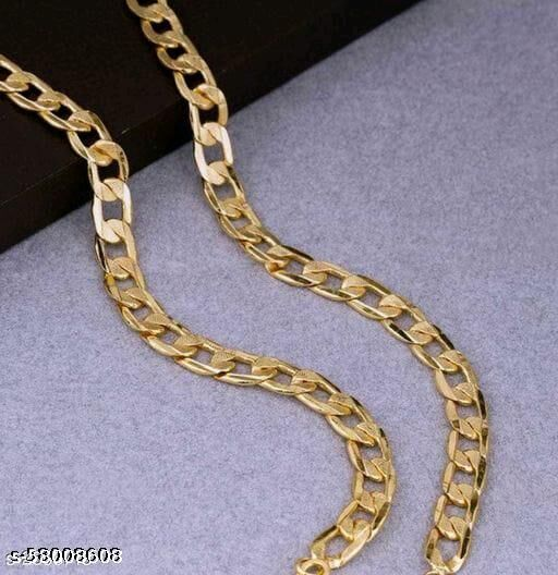 VredeVogel Trendy Men's Golden Gold Plated Chain