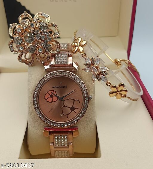 Ladies Watch good Quality With Ladies Bracelet full Ad Adgustbal
