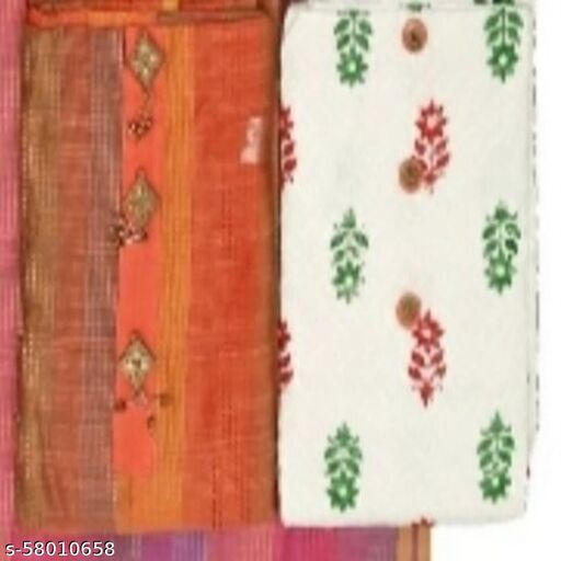 Two Kurti (Silk and Chikan) Concept Salwar Suit Dress Material