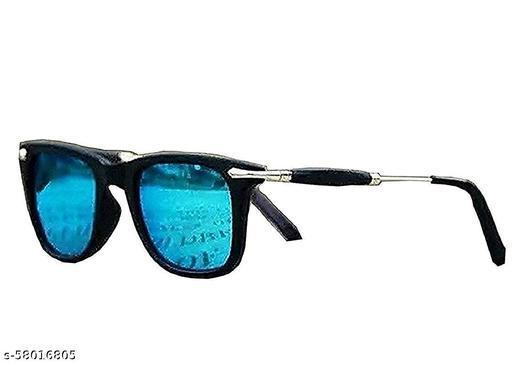 Unisex Original and Genuine Style Premium Quality Square Sunglasses (Blue)